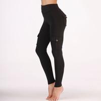 leggings pretos do estilo venda por atacado-Mulheres Yoga Pant Ginásio Esporte Leggings Estilo Fresco Preto / Verde Calças Justas de Treino Elástico Capris Correndo Calças Skinny Jeggings
