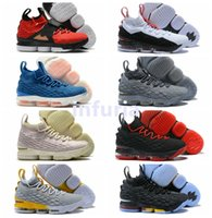 Wholesale diamond sneakers - 2018 High Quality 15 15s AZG Zoom Generation Alternate Diamond Turf City Edition Basketball Shoes Lj Red Grey Black Sneakers US 7-12