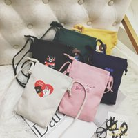 Wholesale mini handbags for babies for sale - Group buy Kids Handbags Newest Girls Bags Fashion Korean Mini Cartoon Coin Purse Baby Anime Canvas Inclined Shoulder Bags Colors For Children