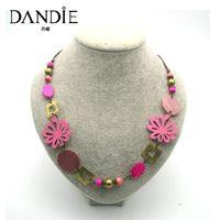 roupas de moda venda por atacado-Dandie moda rosa fresca água marisco colar, para o desgaste diário de uma mulher, apto para uma festa