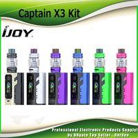 Wholesale x3 battery - Original Ijoy Captain X3 Starter Kits VW TC 324W with 3pcs 20700 Battery Box Mod For X3 C1 C3 Coil Ecig Vape Kit 100% Authentic