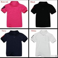 Wholesale Pure Fishing - Brand crocodile embroidery shirt tops for student big children summer T-shirt pure solid color boys summer polo shirts 13 different colors