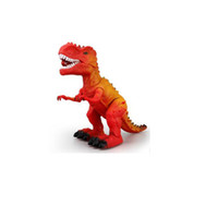 Wholesale battery operated children toys online - Two Colors Random Delivery Electronic Walking Dinosaur Toy Plastic Educational Dinosaur Toys Gifts for Children