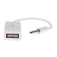 usb weiblicher 3.5mm konverter großhandel-Car Audio Converter Line Car Kit 3,5 MM AUX-Stecker auf USB-Buchse Konverterkabel Autolautsprecher Datenübertragungsleitung USB-Flash-Laufwerk
