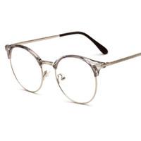 258b846745a3 2018 New TR90 + metal anti-radiation Coating lens Eyeglasses Frames Men Women  Optical Plain Mirror Eye Glasses Frame for Myopia Glasses