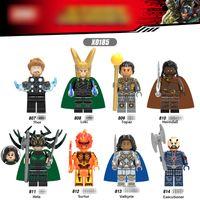 Wholesale Loki Figure - X0185 Superheroes building blocks 2018 New children Thor 3 Ragnarök Loki Hela Movable Action Figure Minifig Toys B