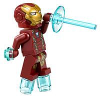 Wholesale compatible laser - WholeSale 20pcs Iron Man with Laser Gemini MK46 CIVIL WAR SUPER HEROES THE AVENGERS Assemble Minifig Model Building Blocks Kids Toys