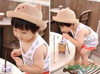 bebek bebek kovası şapka toptan satış-Yeni bebek güneş kap açık bebek kız güneş plaj sevimli yürümeye başlayan kova şapka çocuklar karikatür sevimli güneş şapkaları kapakları