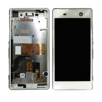 reemplazo de pantalla xperia al por mayor-Para Sony Xperia M5 Pantalla LCD Pantalla táctil Pantalla táctil con marco E5603 E5606 E5653 Pantalla Reemplazo para SONY M5 LCD
