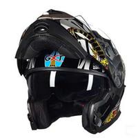 Wholesale gxt motorcycle helmets for sale - Group buy 2017 New Men GXT undrape face Motorcycle Helmet Double Lens Open face Kinght equipment G Motorbike Helmets