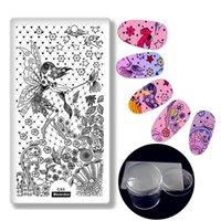 Wholesale xl image plates stamping nail art resale online - Fairy Angel Wings Style Pc Image Nail Plate Pc cm XL Clear Stamper Scraper Set Nail Art Stamp Stamping Plate Art Tool