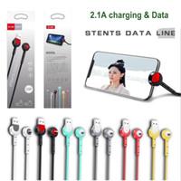 neue handys großhandel-Neue 2.1A Micro USB Typ c Android Kabel stehen Datenleitung Ladekabel 1M Schnellladung Telefon Datenkabel Halterung Ständer Halter für Handy