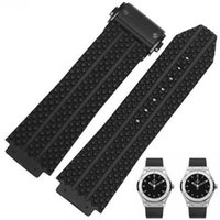 Wholesale big bang watch bands for sale - Group buy Silicone Rubber Watch Band For HublotStrap Big Bang Watch Strap mm Silver Clasp