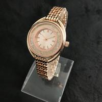 kızlar elmas bilezikler toptan satış-Relogio elmas bayan saatler top marka Ultra ince 10mm lüks moda bayanlar İzle gül altın bileklik bileklik kristal saat hediye için kız