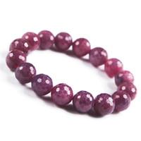 contas de cristal venda por atacado-6mm - 15mm rosa rosa natural genuíno rubi gemstone cristal enfrentou bead trecho pulseira