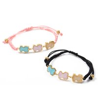 Wholesale High Ropes - TL New Edition Pink&Black Charm Bear Pendant Bracelet Brand Jewelry Fashion Classic High Quality Cute Excellent