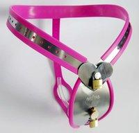 ingrosso gabbia di castità di alta qualità-Più nuovo Design Cintura di castità maschile di alta qualità in acciaio inossidabile Dispositivi di castità con Chastity Cage Cock Cage Plug anale bdsm Sex Toys