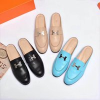 Wholesale button wedge shoe - 2018 tide new latest Italian luxury brand fashion Paris catwalk women's flat shoes & loafers lightweight woman BOOTS & casual Driving shoes