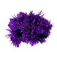 Wholesale wholesale christmas tinsel garland - 2m (6.5 Ft) Christmas Tinsel Tree Decorations Tinsel Garland (purple)