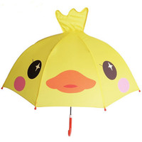kinder regenschirm junge großhandel-Polyester Niedlichen Cartoon Kinder Regenschirm Animation Kreative Langstieligen 3D Ohr Modellierung Kinder Regenschirm für Jungen Mädchen