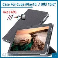 кожаные кубики оптовых-Case For Cube iPlay10 case искусственная кожа смарт стенд обложка складной PU для Cube iPlay 10 / cube U83 10.6