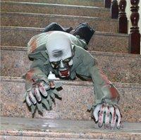 zombies requisiten großhandel-Kriechender großer Geist-Zombie-beängstigender realistischer Horror-gruselige Dekorations-Requisiten-Streich für Halloween-Party-Verein-Spukhaus-Kneipe