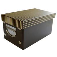 Wholesale plastic book storage - 1pcs Large Capacity Paper Storage Box with Metal Handle Home Books Underwear Clothes Storage Organizer Box