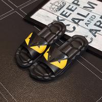 Wholesale new sandals for men - Designer Sandals FEND Summer New for Mens Sandals Black Beach PVC Soft Bottom Anti-slip Designer Flip Flops