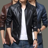 Wholesale 2015 the new trend of men s casual fashion leather coat