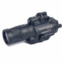 luzes de rifle laser venda por atacado-Tactical X400V Pistola de Luz Combo Red Laser Constante / Momentary / Strobe Saída Rifle Gun Lanterna