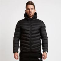 katmanlı yastıklı ceket toptan satış-Toptan erkek Yeni Kış Sıcak Pamuk Yastıklı erkek Termal Şapka Fermuar Ceket erkek Kısa Pamuk Yastıklı Giysiler Erkek Tasarımcı Kışlık Mont
