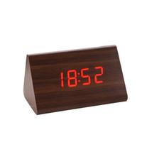 acryl blumenuhren großhandel-Aimecor Digitaluhr Kreative Temperaturanzeige Sounds Steuerung Elektronische LED Wecker Wohnkultur * 30 Geschenk Drop Shipping