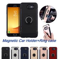 Wholesale Bracket Fitting - ForJ5-2017 Ring Holder Phone Case for ihpone 6plus 7 7plus Magnetic Suction Bracket For Car Kickstand J7-2017 Case