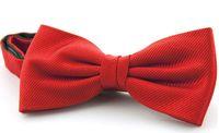 pais dia presente conjuntos venda por atacado-Stripe bowtie 12 * 6 cm bowknot 30 Cores cor sólida gravata Gravata dos homens Conjunto de gravata para o Dia dos Pais dos homens de negócios bowtie Presente de natal