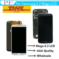 Wholesale mega display for sale - Group buy Original For Samsung Galaxy Mega LCD Touch Screen Digitizer Display Assembly With or Without Frame I9200 Screen Replacement Parts