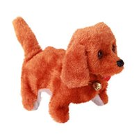 elektrikli köpek oyuncakları toptan satış-Yüksek Kaliteli Peluş Yürüyüş Elektronik Oyuncaklar Barking Köpek Oyuncak 1 ADET Peluş elektrikli köpek 3 stilleri Noel hediyesi seçilebilir
