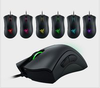 ingrosso luce ottica blu del mouse-Blu / verde luce Razer Deathadder Chroma USB Wired Optical Computer Gaming Mouse 10000 dpi Sensore ottico Mouse Razer Deathadder Gaming Mouse