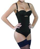 feste steuerung großhandel-1pc Frauen Seamless Firm Control Shapewear Öffnen Büste Bodysuit Body Shaper Schwarz Plus Größe 3XL