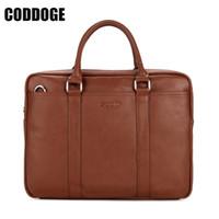 ipad verpackung groihandel-CODDOGE Fashion Men Tote Lässige Aktentasche PU-Leder Umhängetasche Hochwertige Ipad Pack Schulter Handtaschen Umhängetaschen