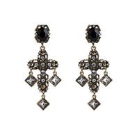 boucles d'oreilles strass croix achat en gros de-Rétro Cross Stud Earring pour femmes strass longue boucle d'oreille bijoux accessoires pour cadeau party avec expédition rapide