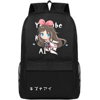 schöne mädchenschultaschen großhandel-Kizuna AI Rucksack Youtuber Mädchen Daypack Schultasche Freizeit Rucksack Sport Schultasche Outdoor Tagesrucksack
