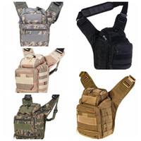 Wholesale Sling Rucksack - Men Army Style Cross Body Pack Men Single Strap Sling One Shoulder CampBags Camera Backpack Rucksack LJJD15