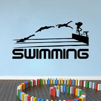 Wholesale sports quotes resale online - Removable Swimming Quotes Sport Series Art Vinyl Wall Stickers for Living room home wall decoration