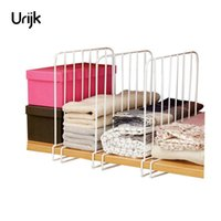 Wholesale drawer closet organizer - Urijk 3PCS Closet Shelf Dividers Space Saving Shelves Wire Design White Wardrobe Chest Drawer Organizer Clothes Storage Rack
