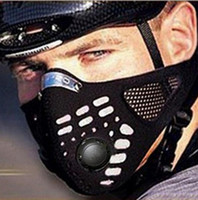 máscaras de filtro de motocicleta al por mayor-Máscara contra polvo deportes al aire libre Protección de media cara caliente contra Activado Máscara facial de carbono filtro bici de la bicicleta de la motocicleta GGGA193