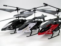 Wholesale black box toys - Anti-impact RC Helicopter 2 Channel Remote Control Helicopte Boys Birthday Christmas Toy 3 colors By DHL