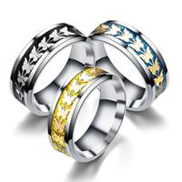 Wholesale vintage totem - Fashion Stainless Steel Women Men Bohemian Vintage Butterfly Totem Rings Jewelry Delicate ring for men women 080322