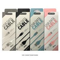 mejor cable cargador de iphone al por mayor-Wewo USB Tipo C Cargador Cable Durable 1m 2.4A Líneas de datos de carga rápida para Samsung S6 HTC Android Teléfonos Cable micro USB con el mejor paquete