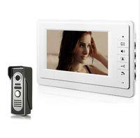 video-sicherheitskamera verdrahtung großhandel-7 zoll Farbe Monitor Home Security Video Türklingel Telefon Verdrahtete Intercom Türklingel Nachtsicht Kamera
