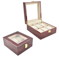 Wholesale chinese beds for sale - 2019 New Grids wooden Watch Case Box Casing for Hours Sheath for Hours Box Watch